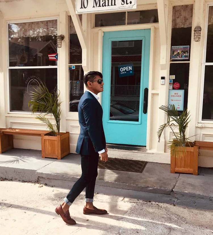 Loafer Blazer Jeans Outfit