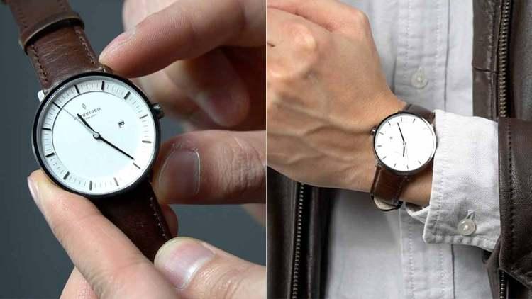 case width on wrist 36mm watch