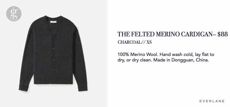 Everlane Felted Merino Cardigan Details