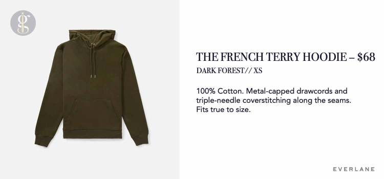 Everlane French Terry Hoodie Details