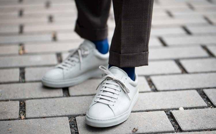 casual tailoring grey sneakers