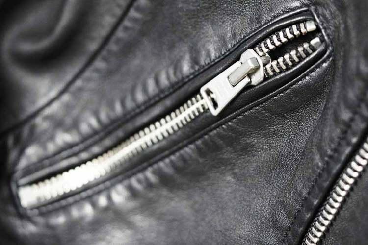 leather jacket pocket zipper