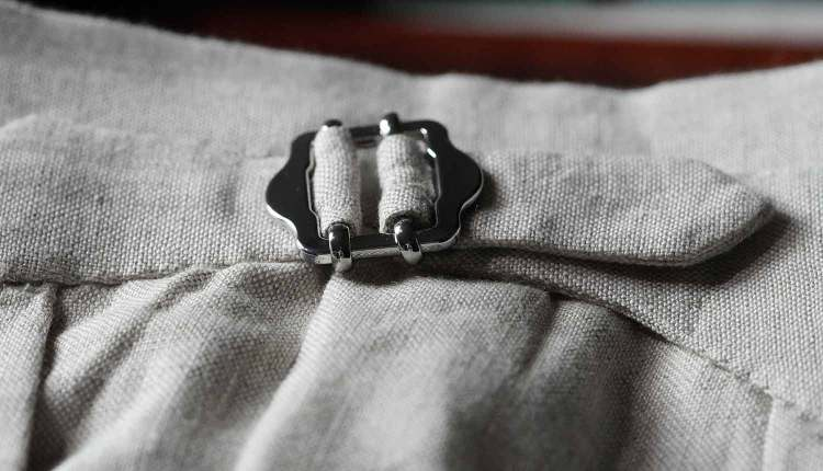 trousers side tab details