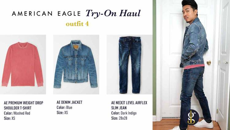 american eagle review try on haul outfit 4
