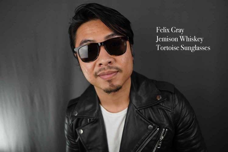felix gray jemison whiskey tortoise sunglasses