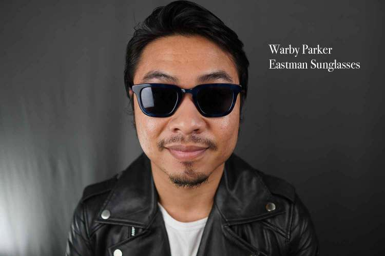 warby parker eastman sunglasses in belize blue
