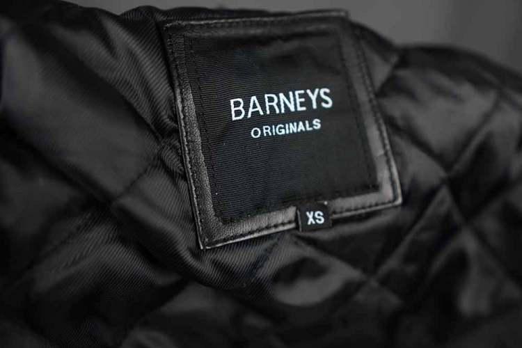 ASOS Barneys Originals Belted Leather Jacket Tag