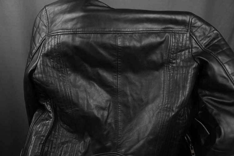 Barneys Originals Biker Jacket Quilted Back