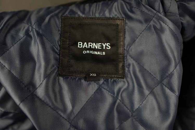 Barneys Originals Quilted Leather Jacket Tag