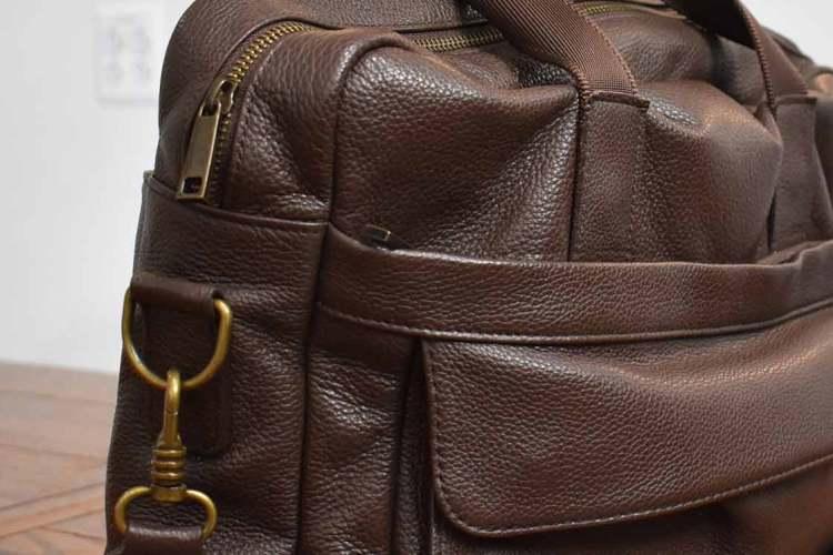 daniels leather bag hardware details