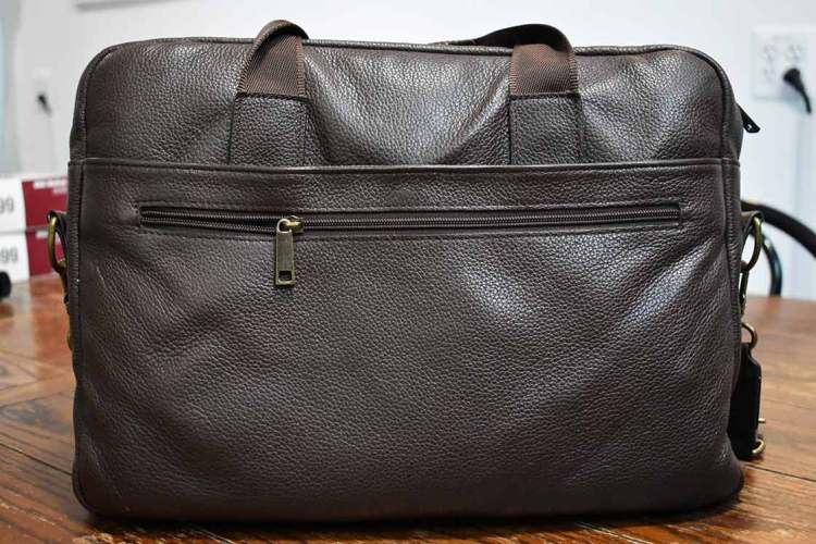 daniels leather briefcase front