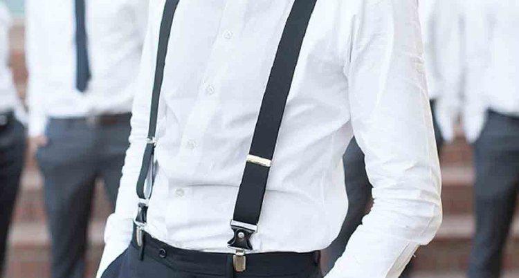 black tie wedding suspenders optional