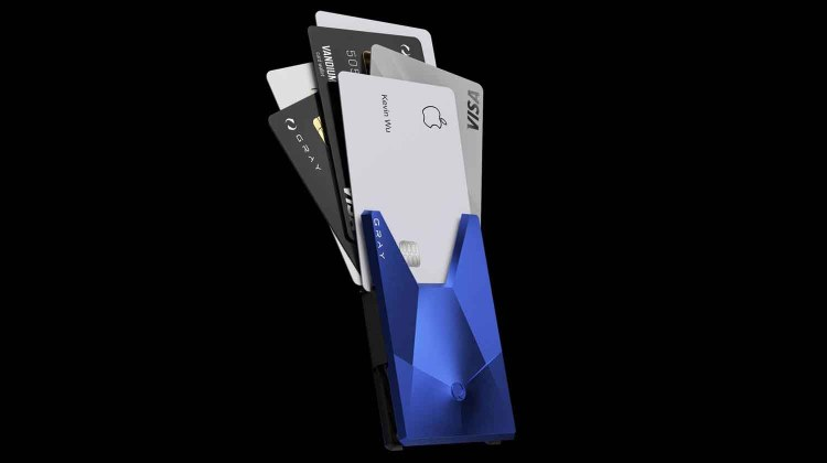 gray inc vandium aluminium card wallet