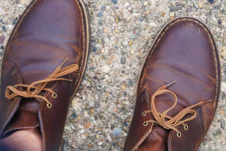 clarks desert boot beeswax top view