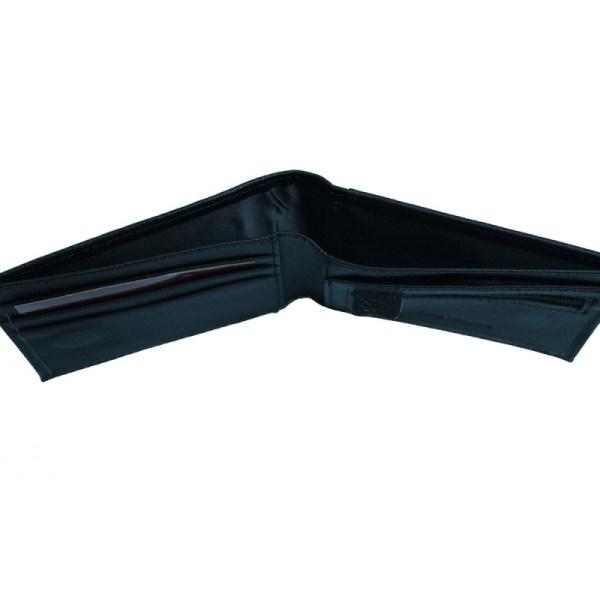 portofel din piele naturala model slim l22 black 2