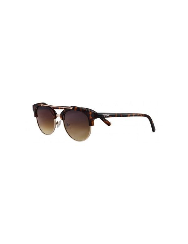 zippo brown sunglasses with brow bar min