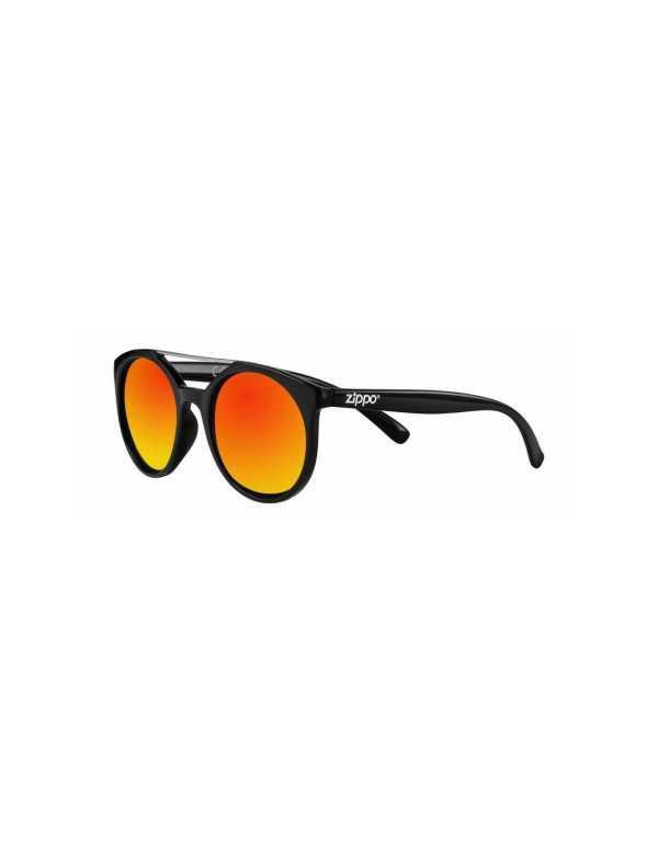 zippo orange mirror circular sunglasses with brow bar min