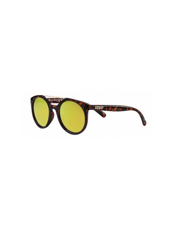 zippo yellow mirror circular sunglasses with brow bar min