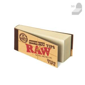raw perforated tips wide tips book