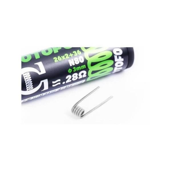 pack de 10 coils dual core fused clapton ni80 26x236 wotofo 1
