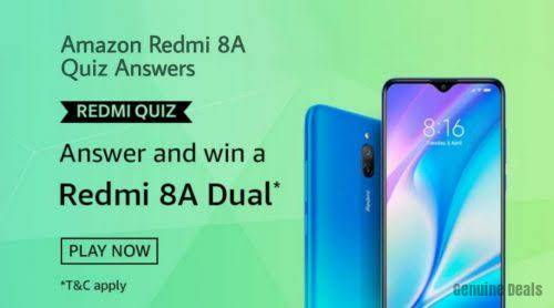 Amazon Redmi Quiz Answers – Win Redmi 8A Dual