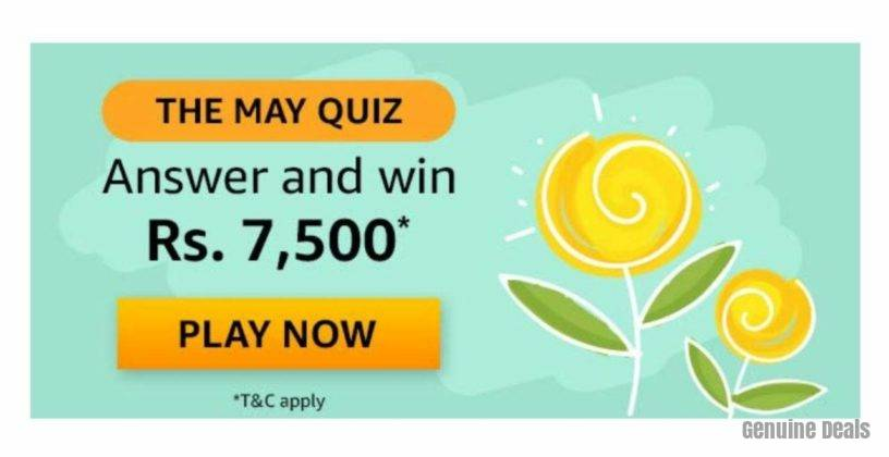 Amazon The May Quiz Answers – Win Rs. 7,500