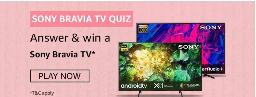 Amazon Sony Bravia TV Quiz Answers – Win Sony Bravia TV