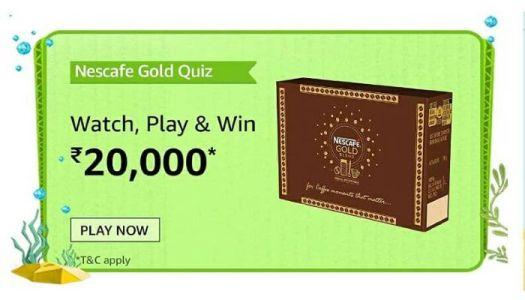 amazon nescafe gold quiz 1
