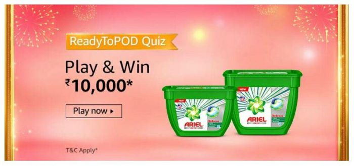Amazon ReadyToPod Quiz Answers – Win Rs.10,000 Paybalance