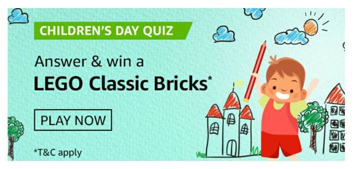 Amazon Childrens Day Quiz Answers – Win Lego Classic Bricks