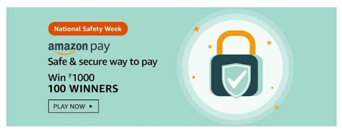 Amazon National Safety Week Quiz Answers – Win Rs.1,000
