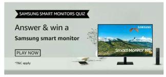Amazon Samsung Smart Monitor Quiz