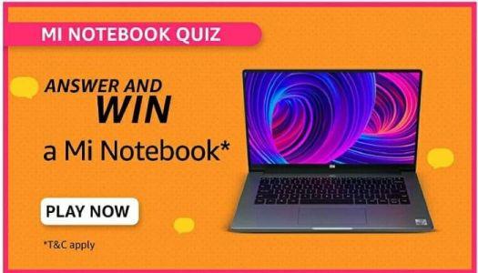 amazon mi notebook quiz