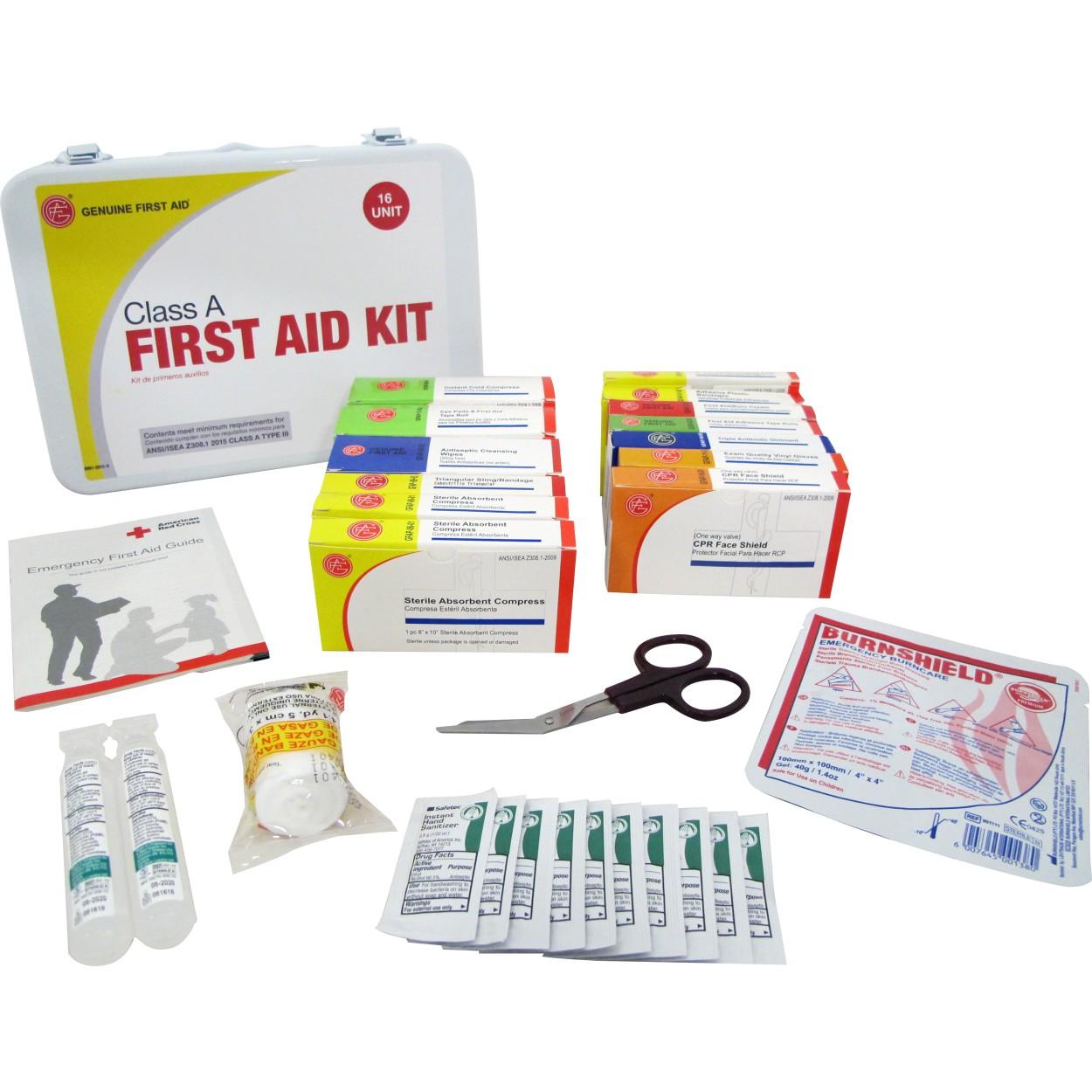Class A Ansi 16 Unit Metal First Aid Kit