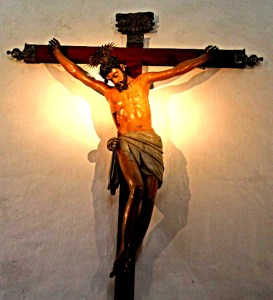 Catholic depiction of Christ on the cross.