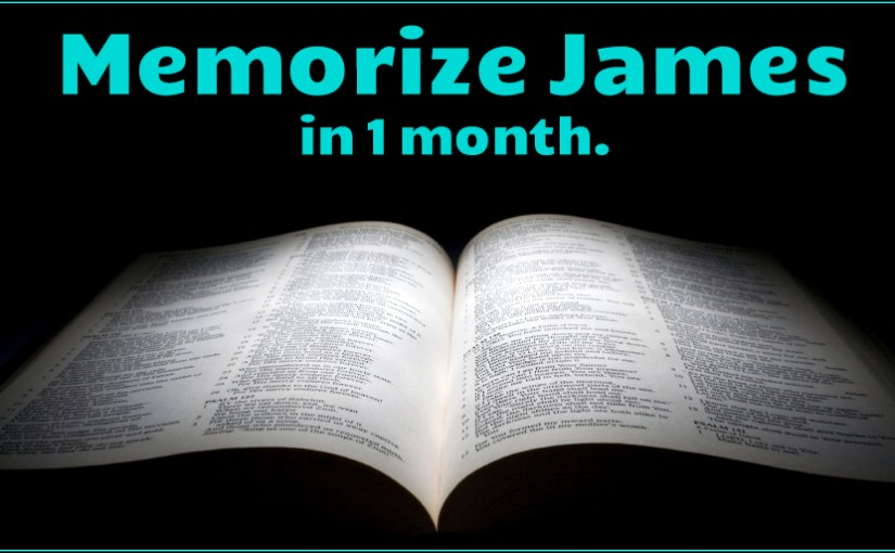 Image with link to a memory course for the book of James.