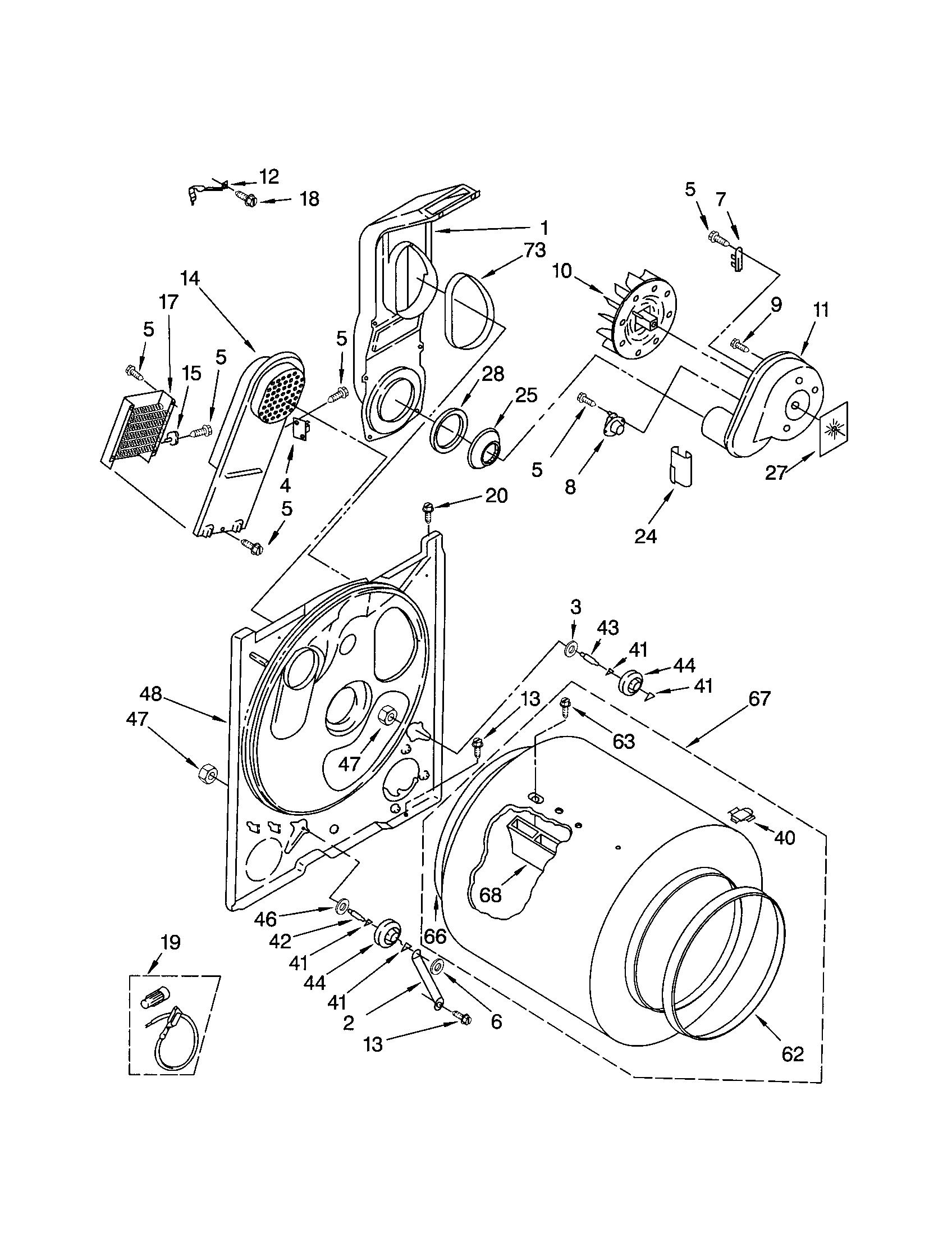 Kenmore 110 Blower Wheel