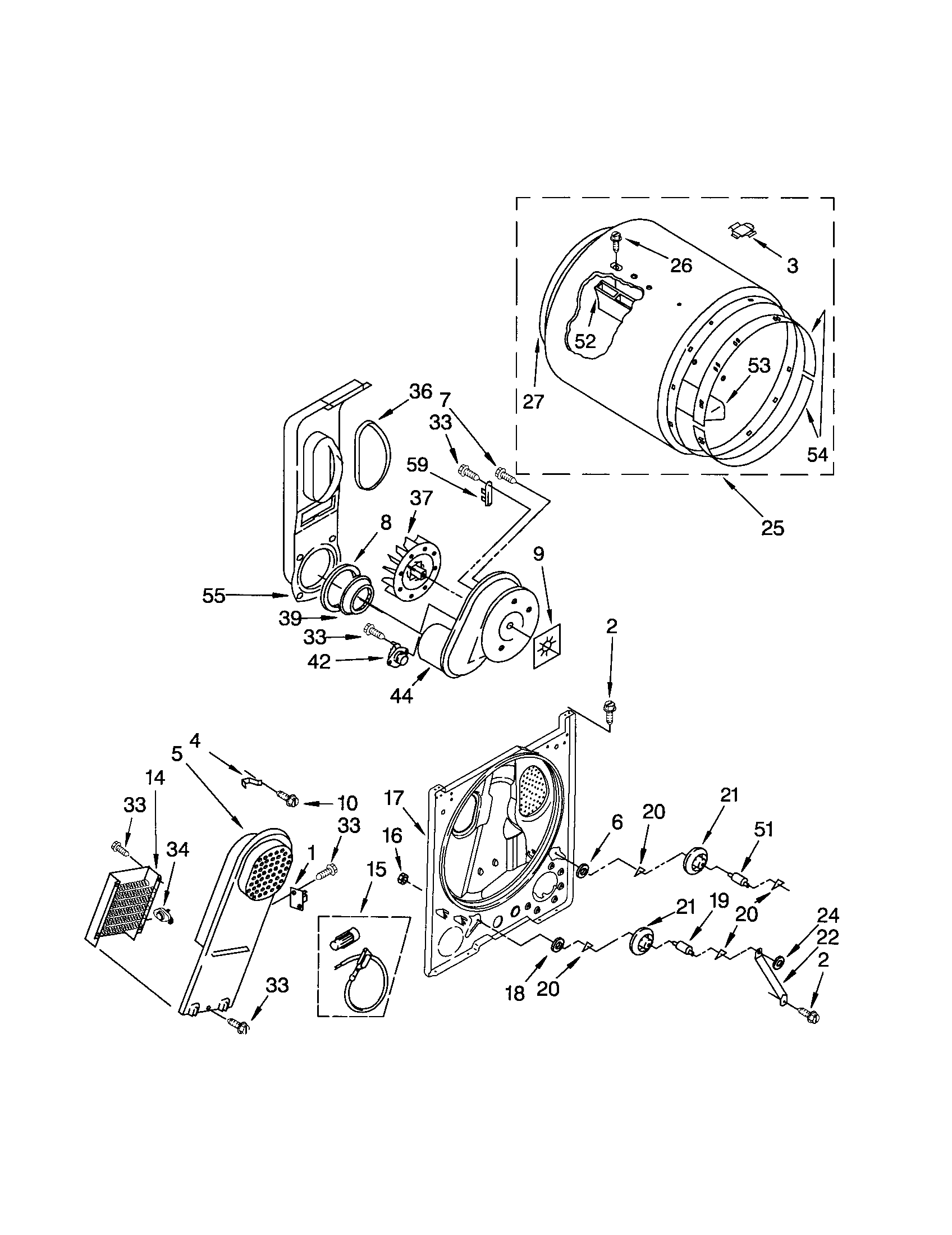 Kenmore 110 Drum Support Roller Kit