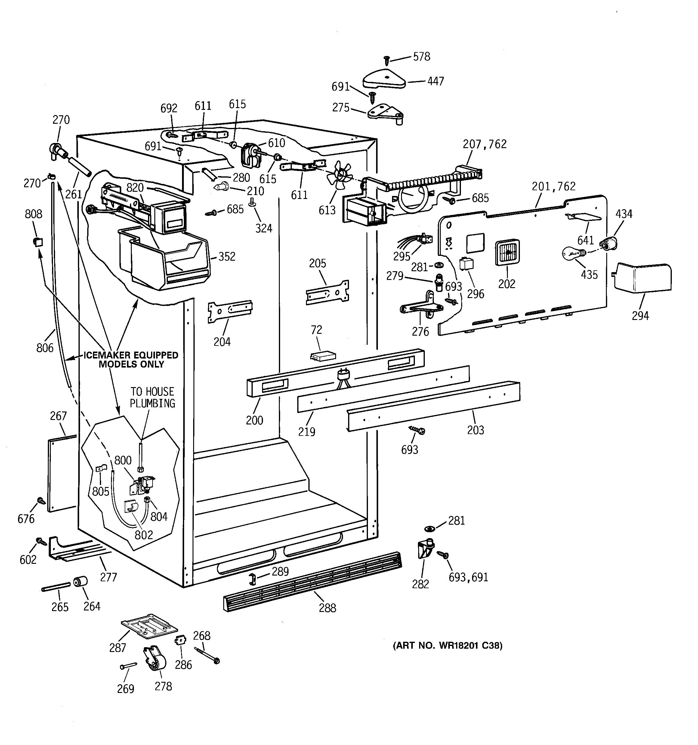 Kenmore 363 Ice Maker Assembly Kit Genuine Oem