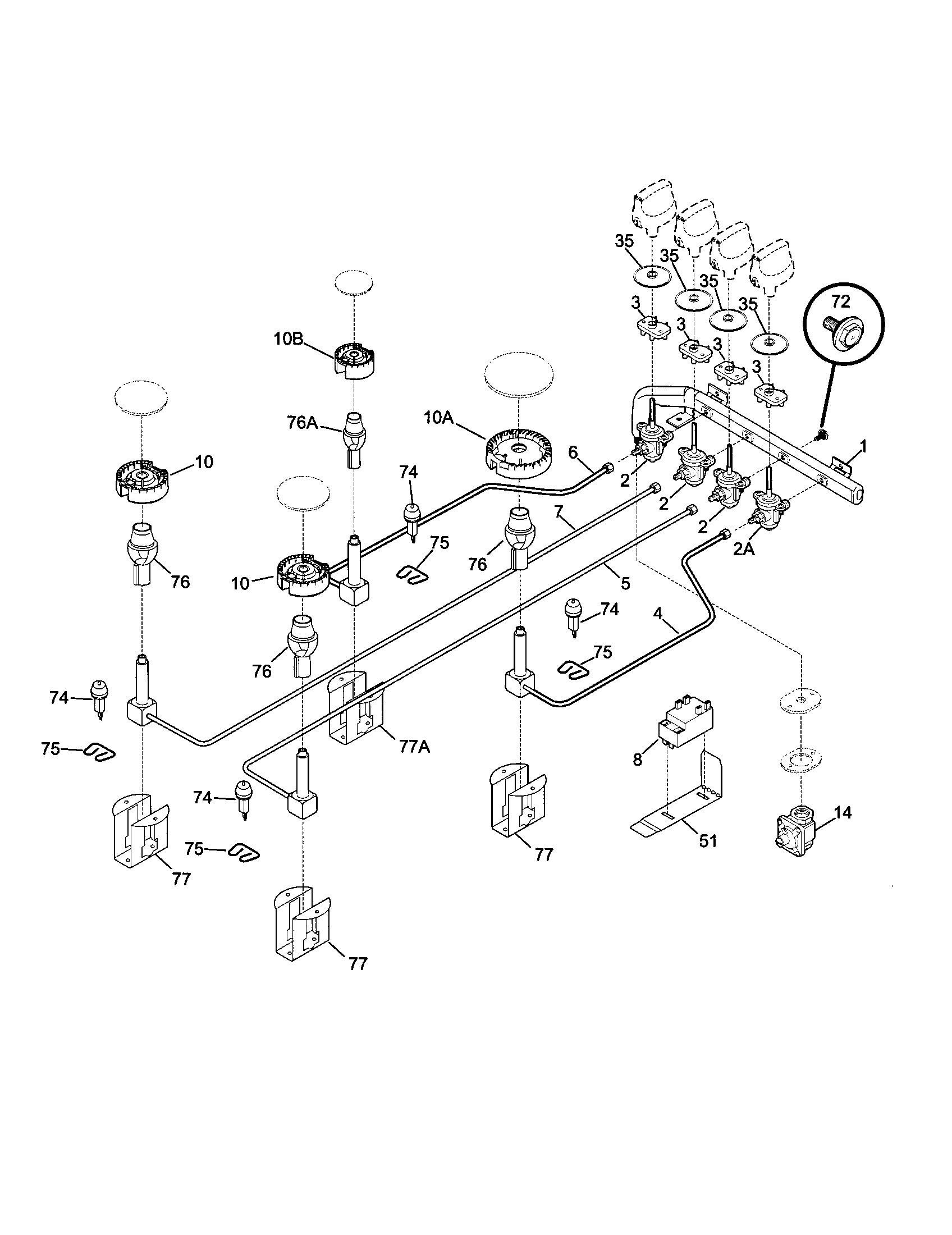 Kenmore 790 Burner Spark Ignition Switch
