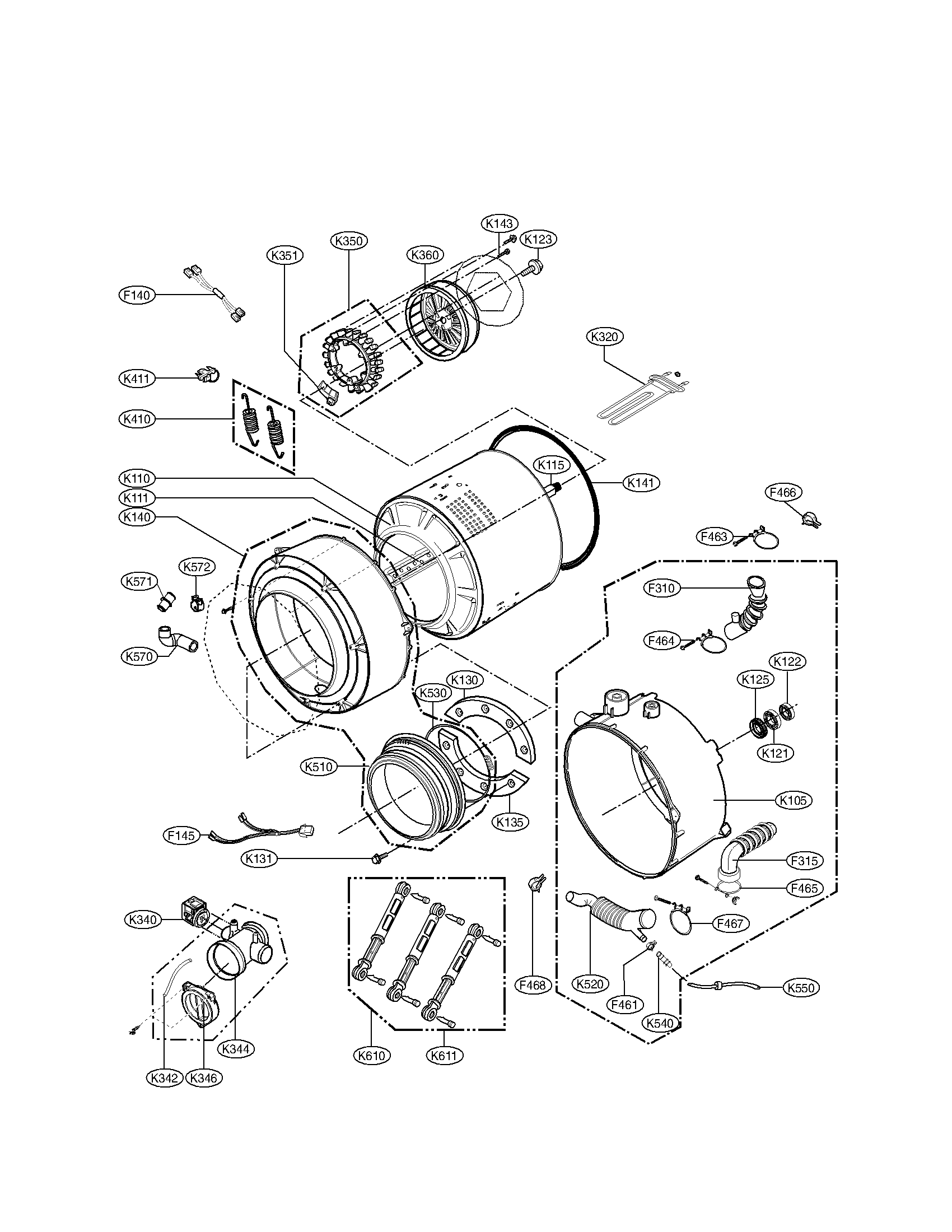 Kenmore 796 800 Washer Drain Pump And Motor Assembly
