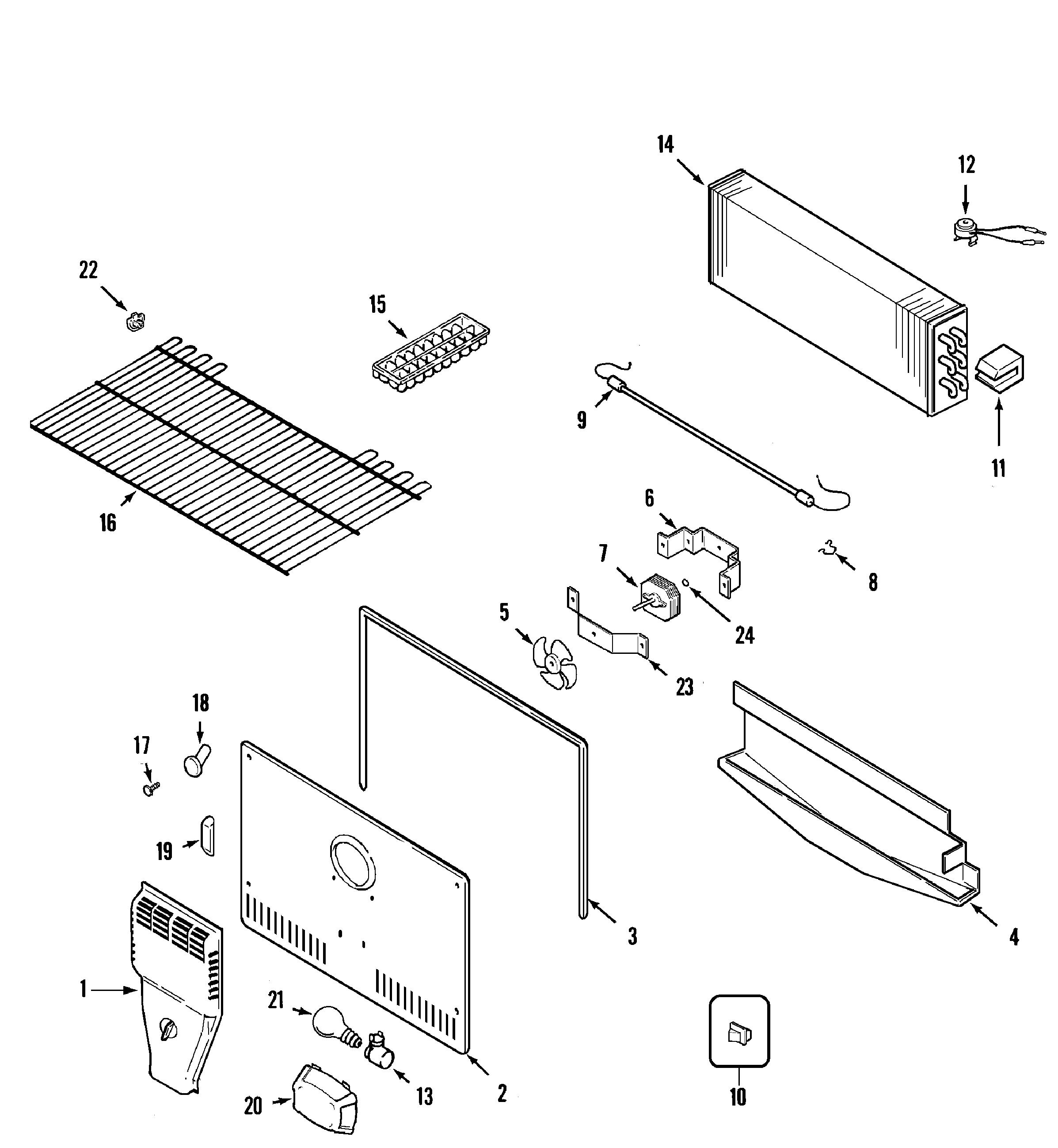 Amana Atb Hrq Evaporator Fan Motor