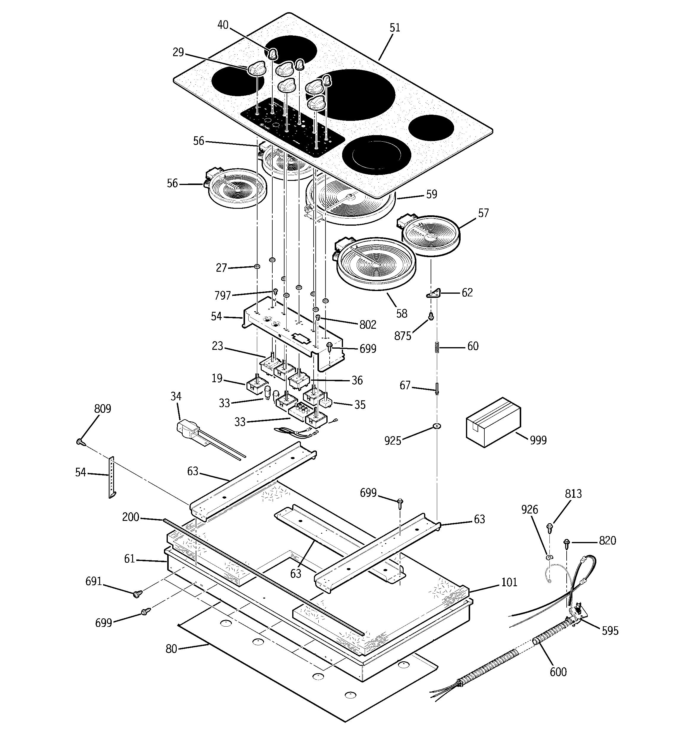 Ge Jp970tk1ww Infinite Surface Unit Switch