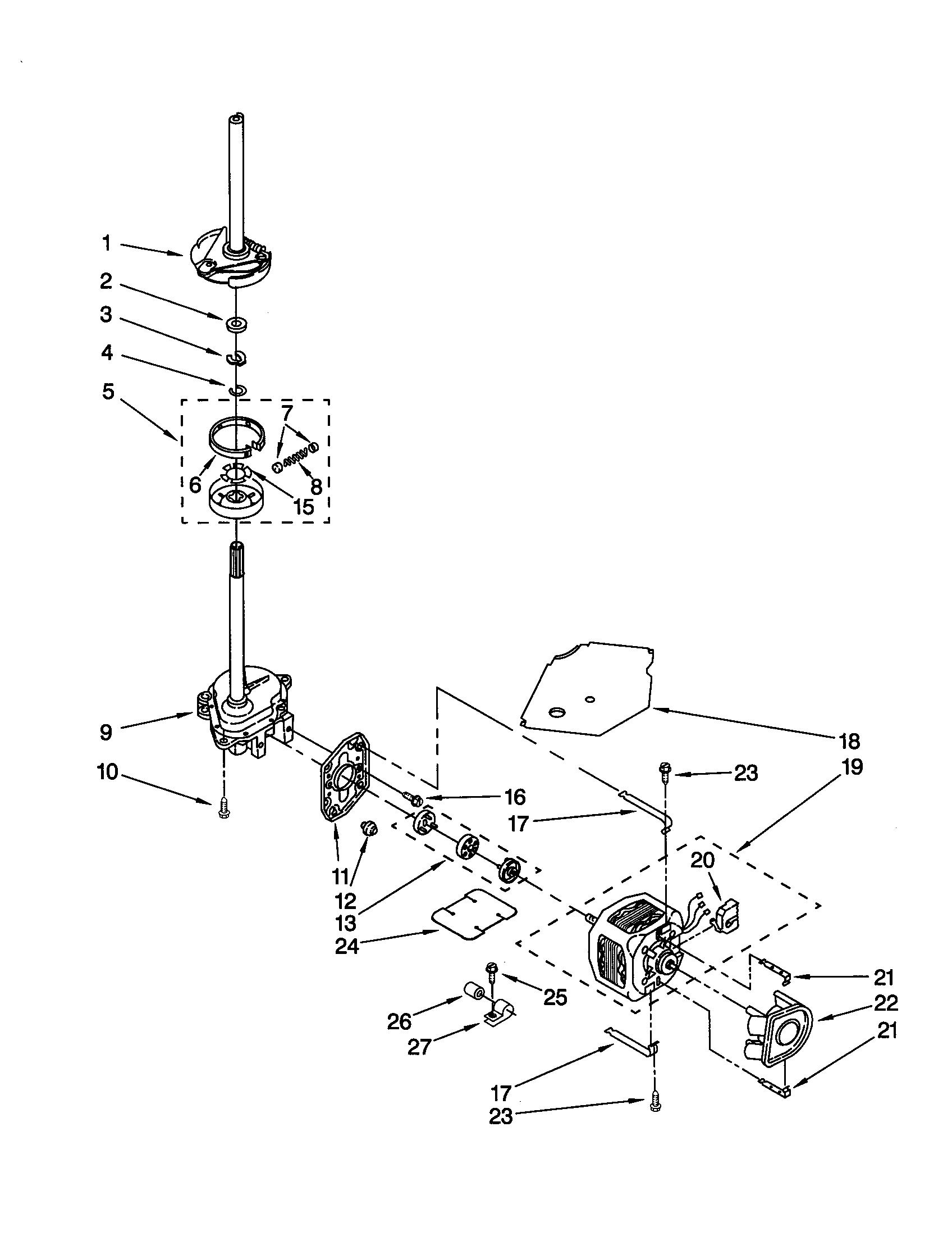 Whirlpool Lsq Jq0 Washer Clutch Assembly