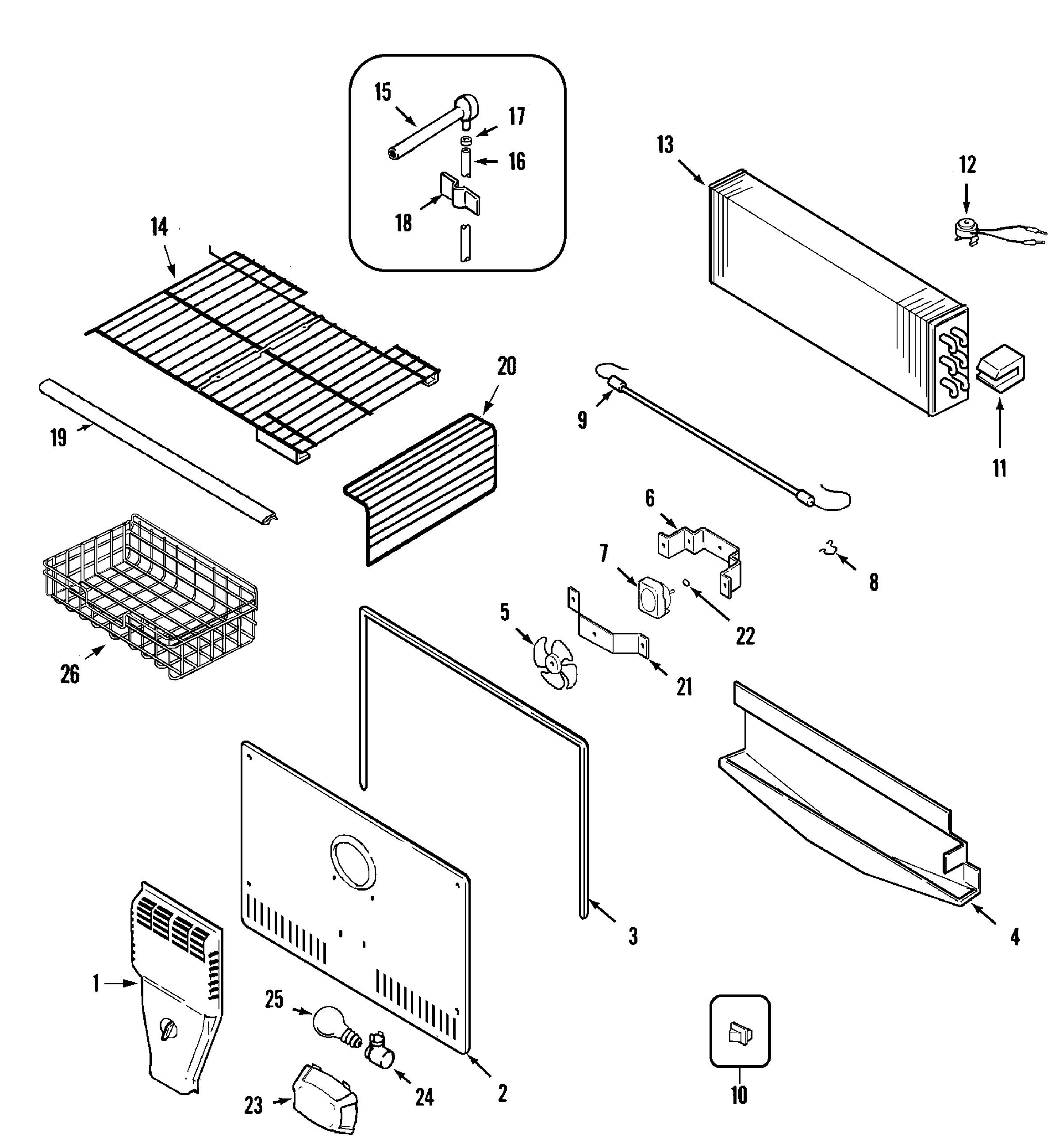 Maytag Mtf Geq Evaporator Fan Motor
