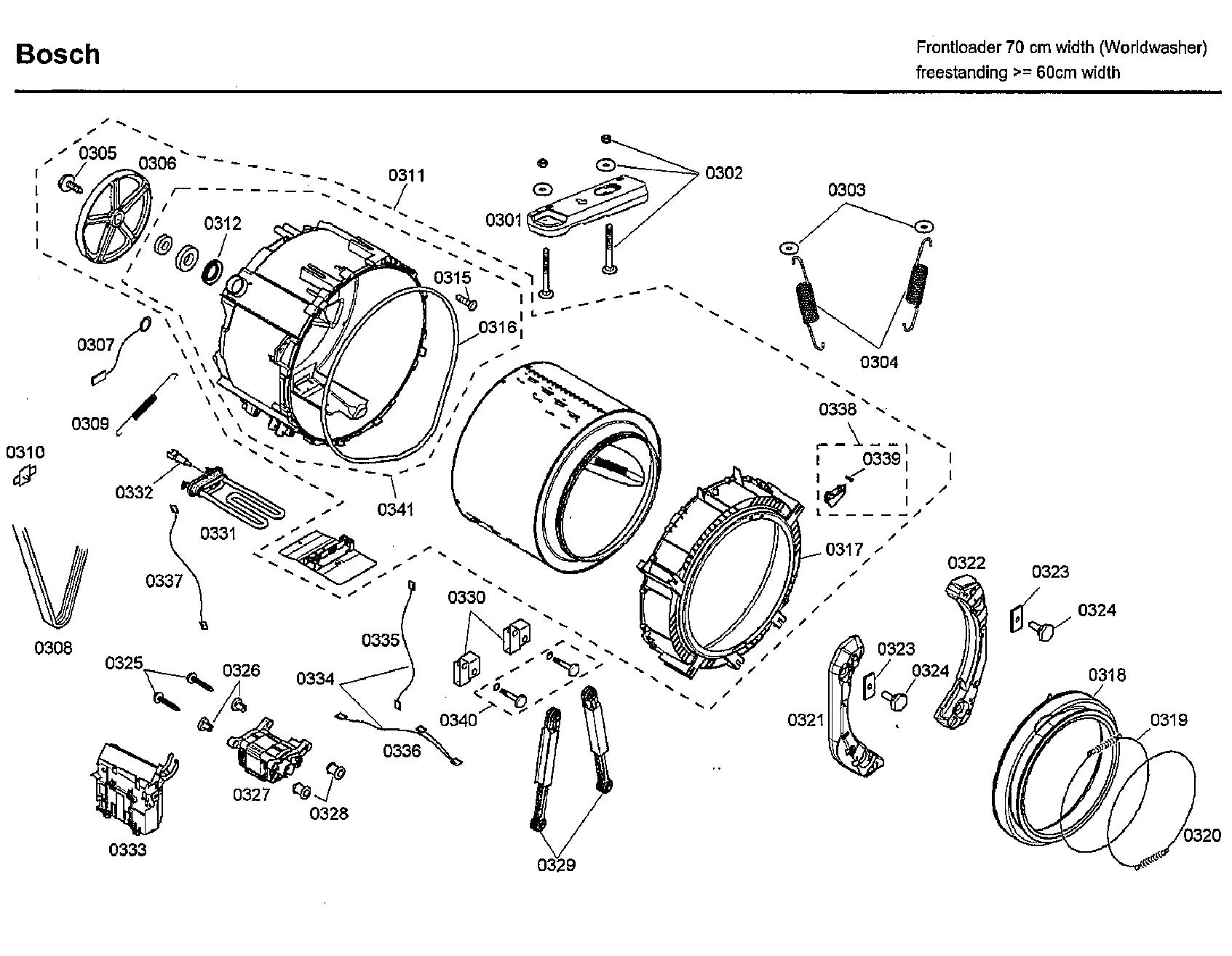 Bosch Wfmc Uc 14 Door Boot Seal Gasket
