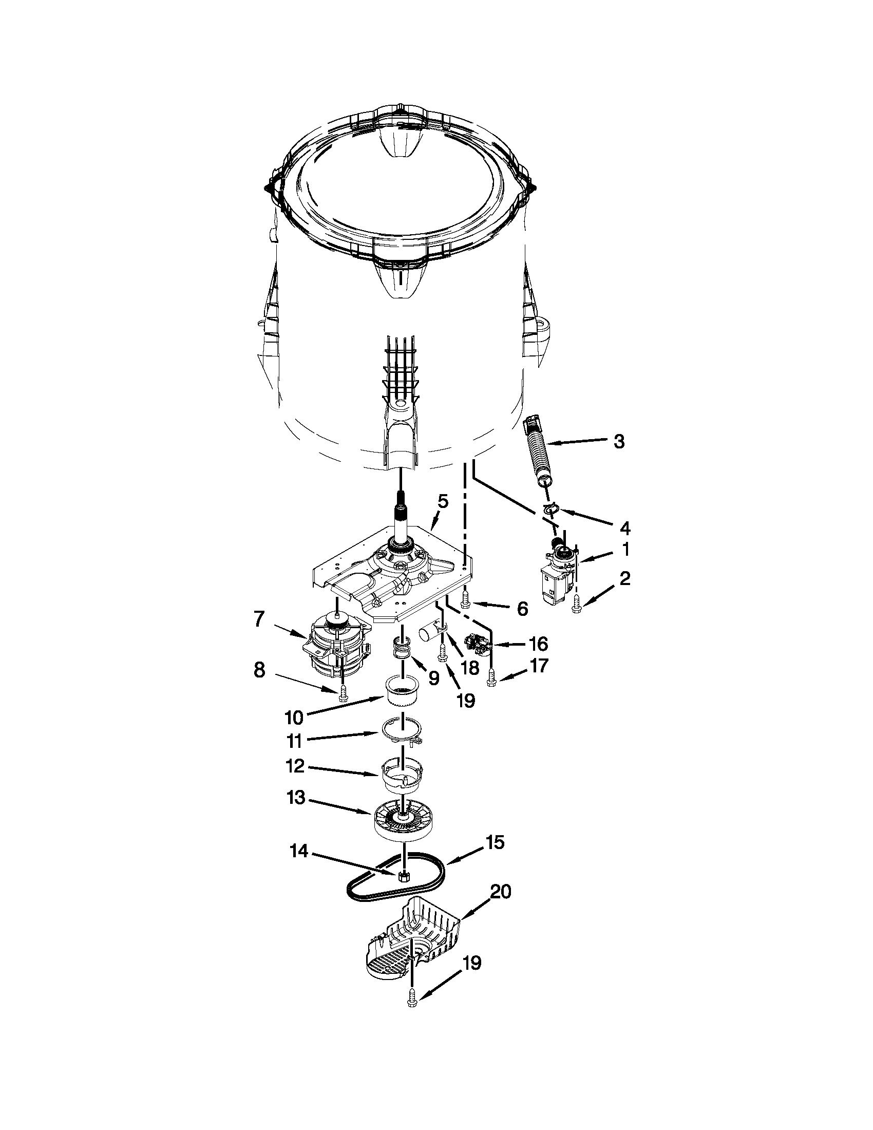 Whirlpool Wtw Bw0 Transmission Gearcase