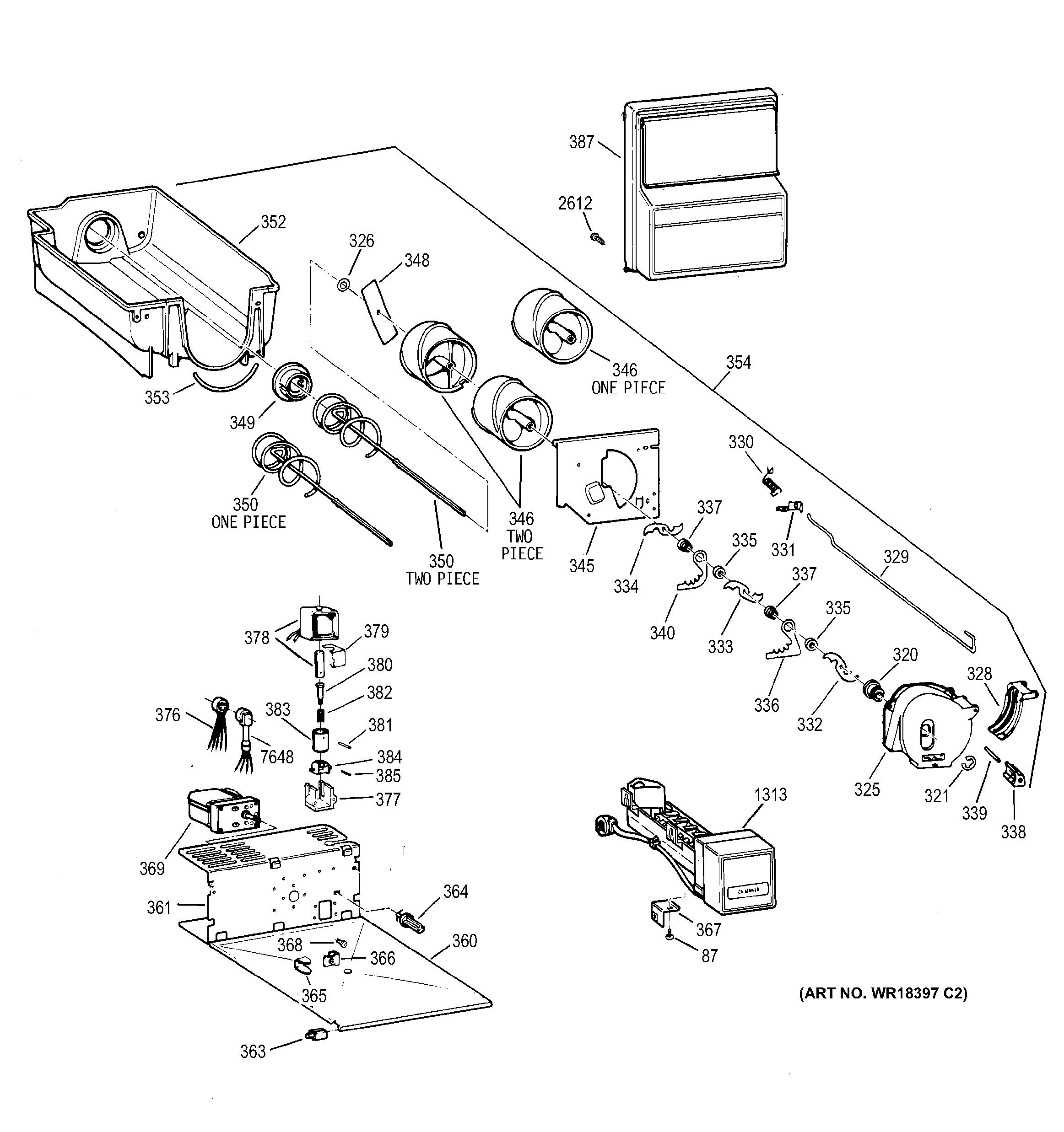 Ge Zisw48dya Ice Maker Auger Motor Genuine Oem