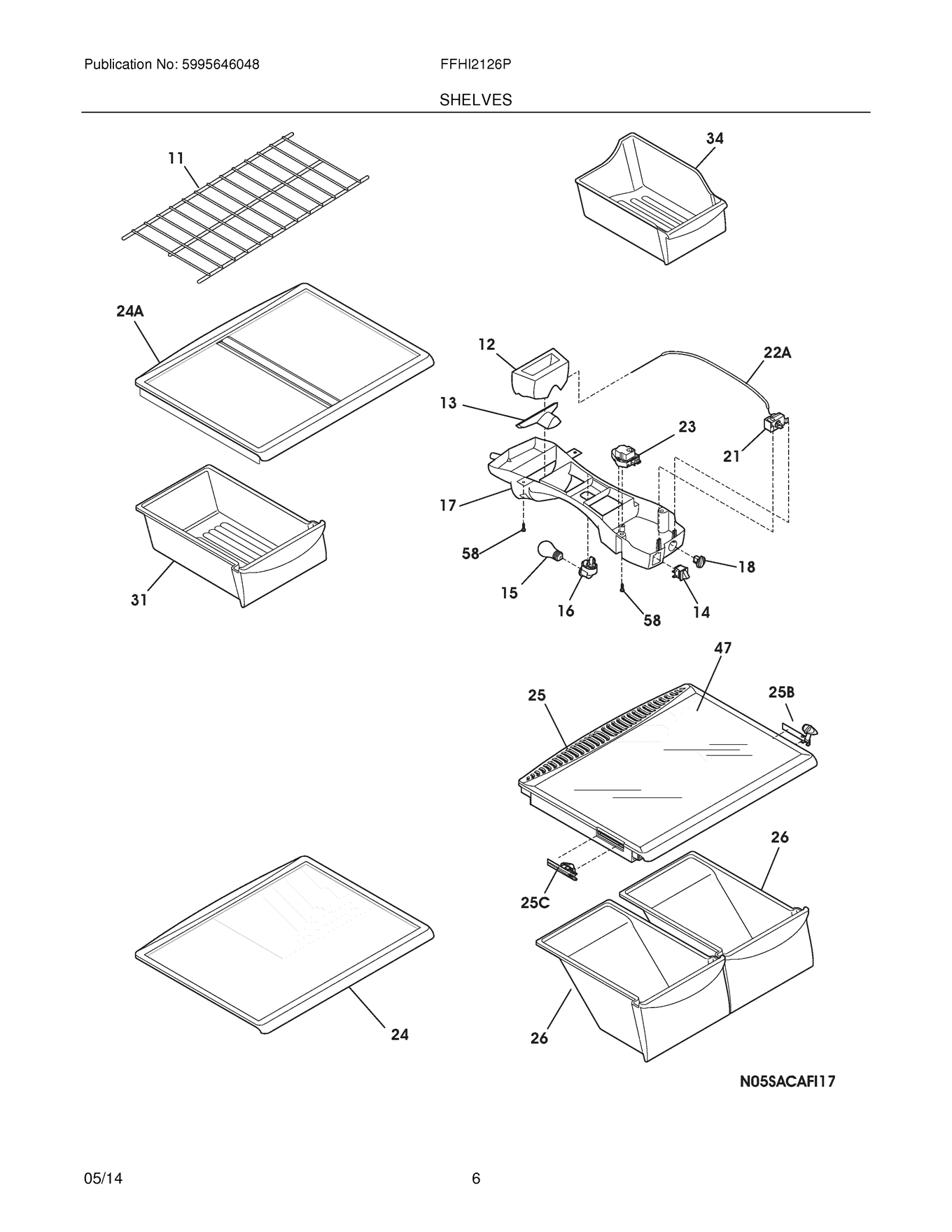 Frigidaire Ffhi Ps4 Control Box Wiring Harness Genuine Oem