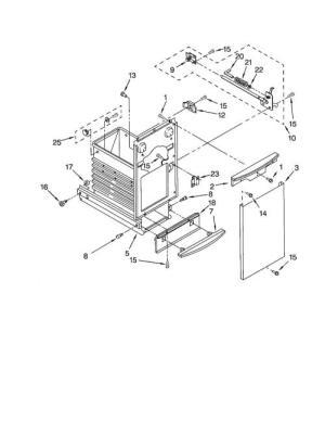 KitchenAid KUCC151JSS0 Door LockLatch Assembly  Genuine OEM